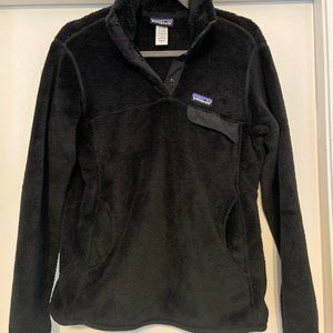 Patagonia Black Snap Fleece Pullover Size Small